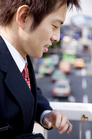 pained: Businessman to a pained expression Stock Photo