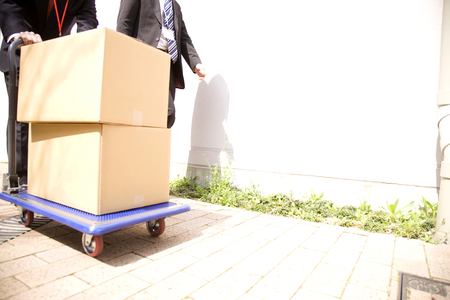 sidewalk sale: Businessman to delivery work