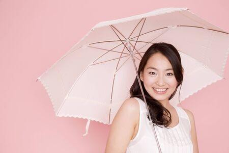 parasol: Parasol Lady Stock Photo