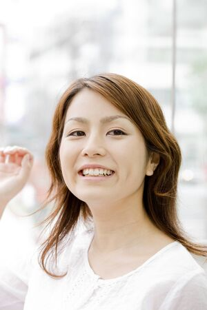 woman smiling photo