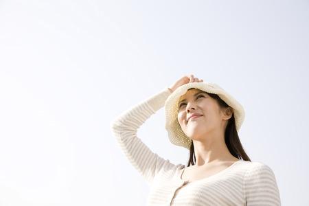 Woman with Hat Reklamní fotografie - 40048440