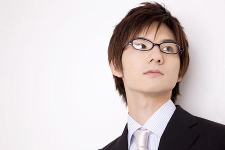 Men who wear glasses 版權商用圖片