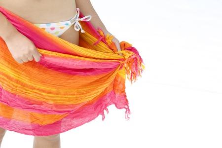 pareo: Women wrapped pareo
