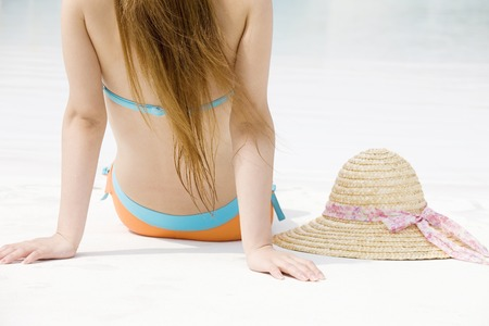 straw the hat: Straw hat and women Stock Photo