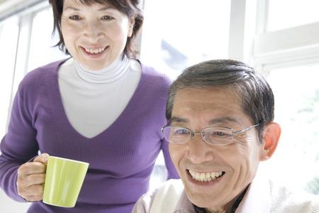 The smiling senior couple image Stok Fotoğraf