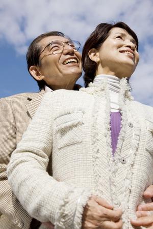 pareja de esposos: Retrato de una pareja casada Foto de archivo