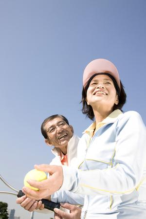 Couples who have a tennis Stok Fotoğraf