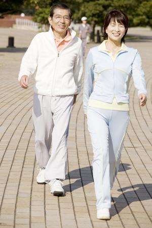 Couple in Walking