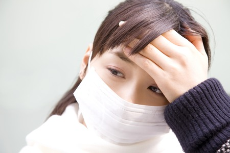 Women who have caught a cold
