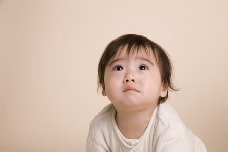 tearful: Baby of a tearful face Stock Photo