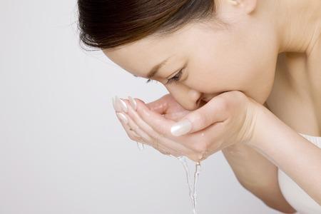 lavado: Cara de la colada de la mujer