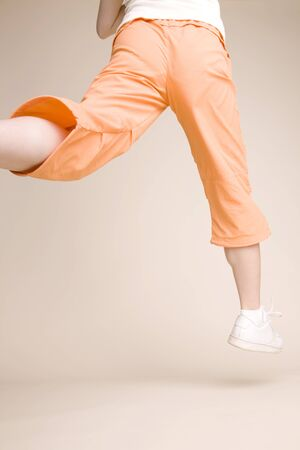 foot ware: Feet of jumping woman