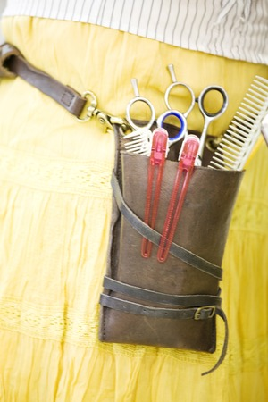 coiffeur: Hairdresser tools Banque d'images