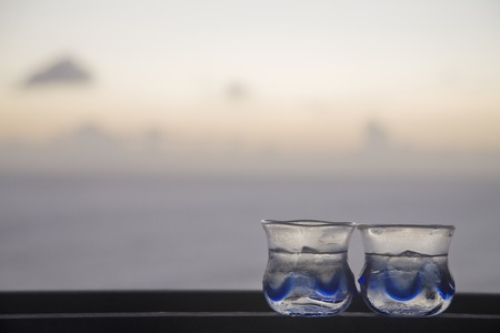 Glass that contains the sake
