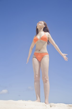 firmament: Swimsuit woman growth under the firmament