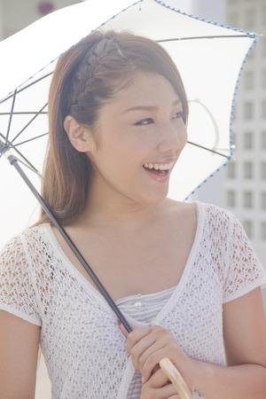 parasols: Women walk parasols