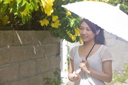 parasol: Women walking with parasol