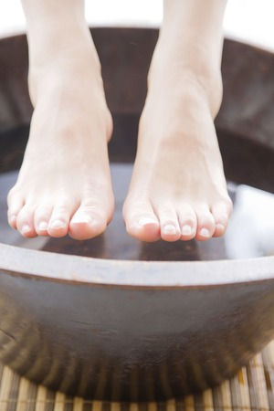 gait: Feet of the women subjected to footbath