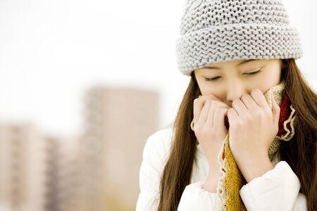 beat women: Beat the cold weather women Stock Photo