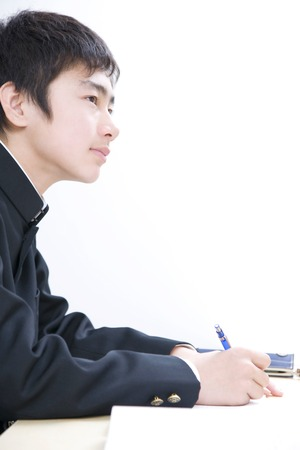 Mens junior high school students to study at the Institute Stock Photo