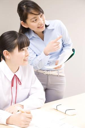 cram: Cram school teacher taught to study womens junior high school students