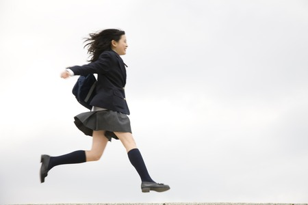 Womens junior high school students to apply Stock Photo