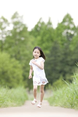 straight path: girl running