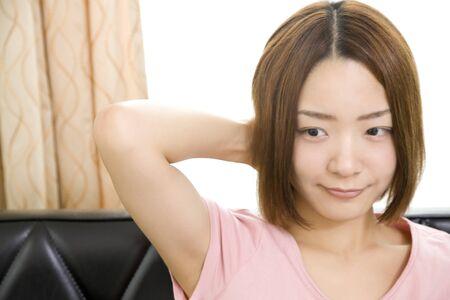 lacking: Women lacking the head Stock Photo
