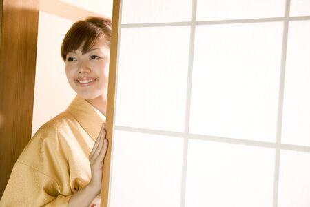 kimono: Women dressed in kimono Stock Photo