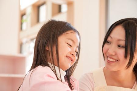 kindy: Kindergarten girls and kindergarten teachers of smile