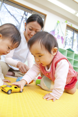 kindy: Play with toys nursery and kindergarten Stock Photo
