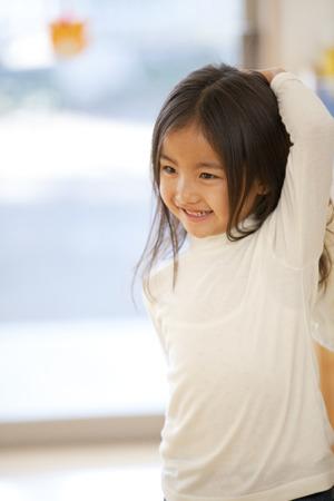 kindy: Smile of nursery school girls