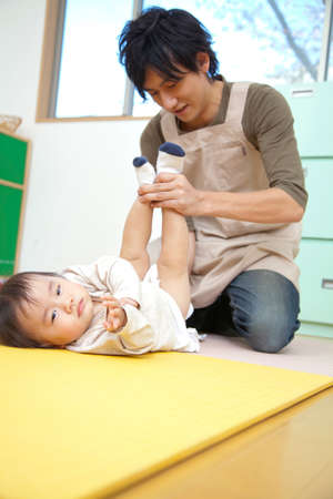 excretion: Nursery and preschool boys to replace the diaper