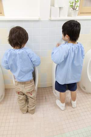 pee pee: Kindergarten boys have to pee