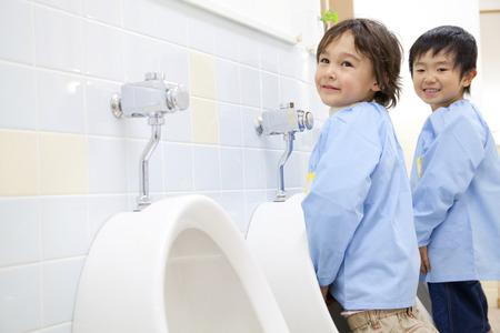 pee pee: Kindergarten boys have to pee
