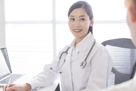 smiling female doctor: Smiling female doctor