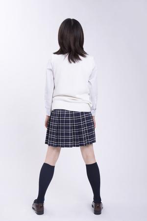 The high school girls Rear View 免版税图像