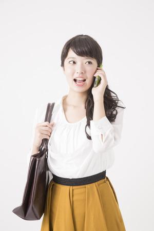 japanese people: OL to phone