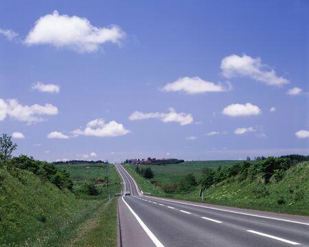 no pase: Carretera Foto de archivo