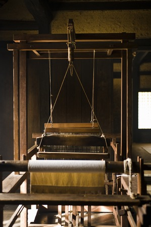 weaving: Weaving machine Stock Photo
