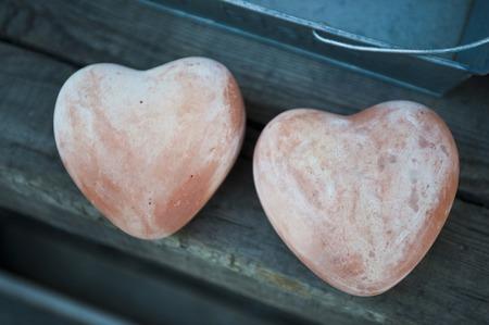 heartshaped: Heart-shaped ornament Stock Photo