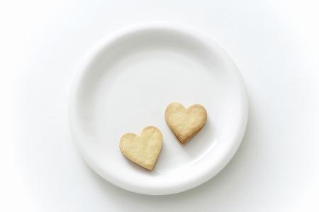 Heart-shaped cookies Фото со стока