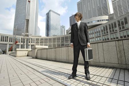 attache case: Businessman with an attache case Stock Photo