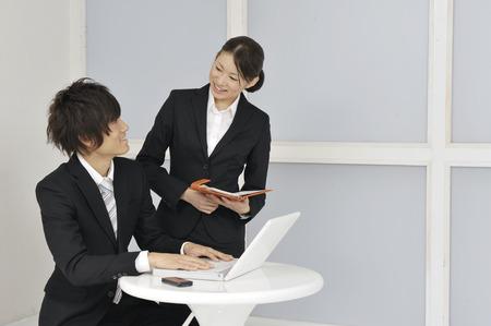 despatch: Meeting scenery Stock Photo