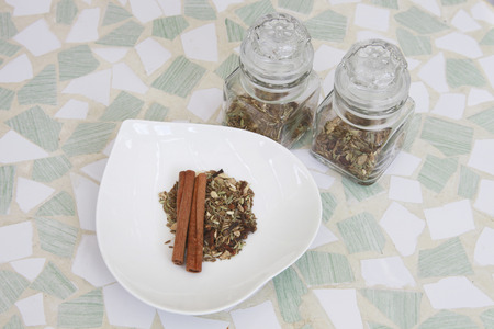 healthiness: Medical herbs Stock Photo