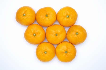 eight: Eight of oranges Stock Photo