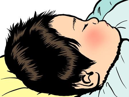 Baby-Schlaf Gesicht Standard-Bild - 63186646