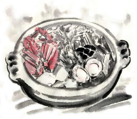 chowder: Pot Stock Photo