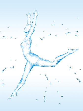 vrouw dansen Stockfoto