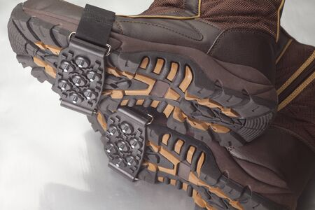 cleat: Snow spike Stock Photo